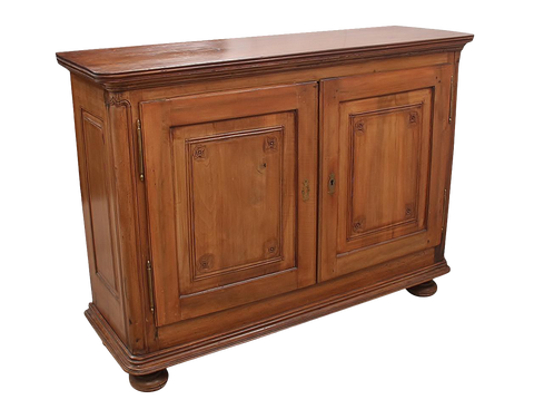 1920s French Country Solid Wood Sideboard