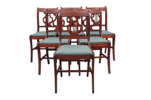 1940s Vintage Duncan Phyfe Style Lyre Dining Chairs