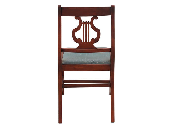 1940s Vintage Duncan Phyfe Style Lyre Dining Chairs Back