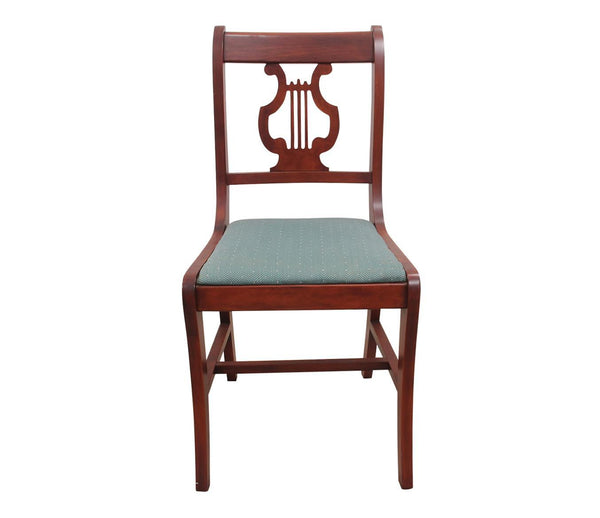 1940s Vintage Duncan Phyfe Style Lyre Dining Chairs Single Front