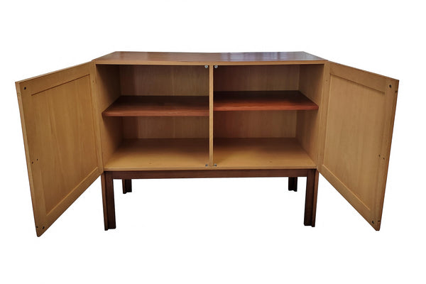 1960s Danish Mid-Century Modern Cabinet by H. G. Furniture open
