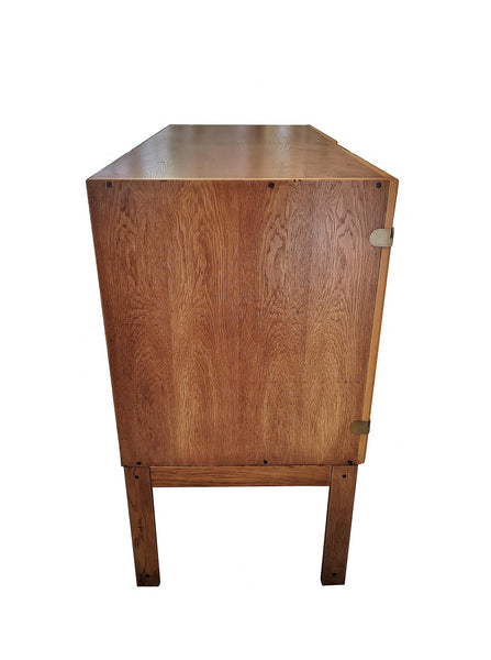1960s Danish Mid-Century Modern Cabinet by H. G. Furniture side