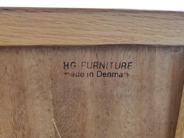 1960s Danish Mid-Century Modern Cabinet by H. G. Furniture logo