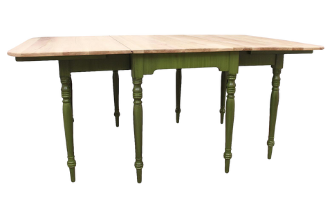 Rustic Drop-Leaf Dining Table