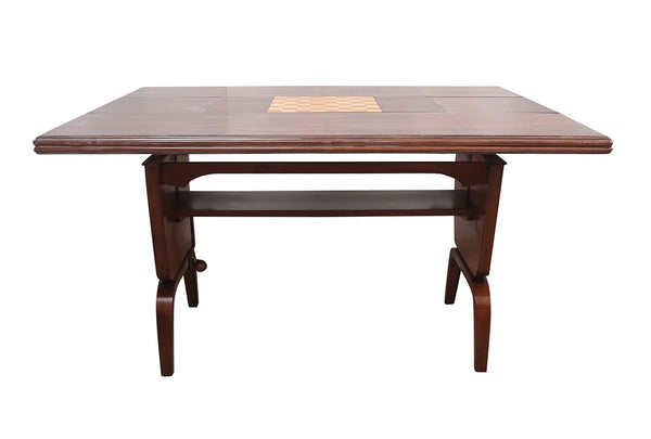 1950s Expandable Wood Game Accent Table