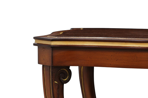 Regency Style Leather Topped Side Tables 4