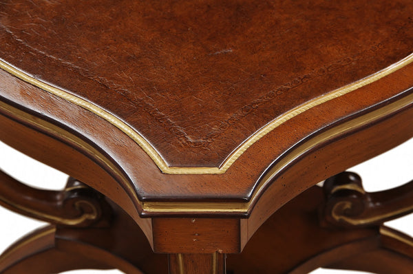Regency Style Leather Topped Side Tables 5