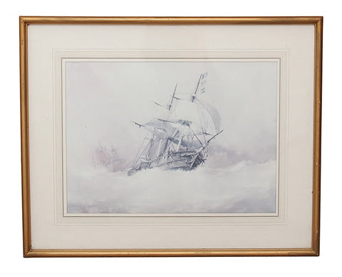 Framed Vintage Ship Print 1