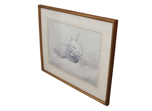 Framed Vintage Ship Print 4