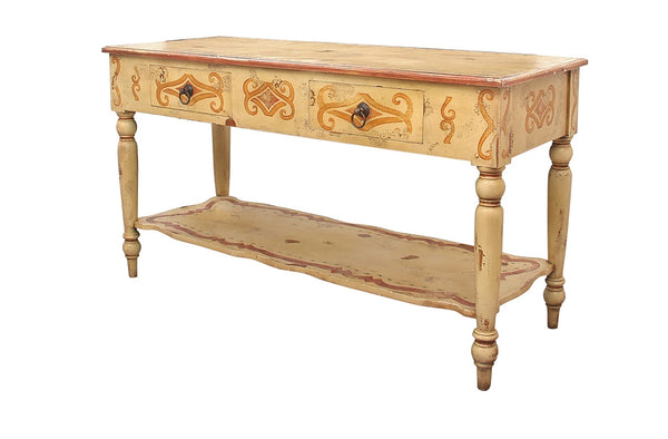 French Country Hand Painted Hall Table