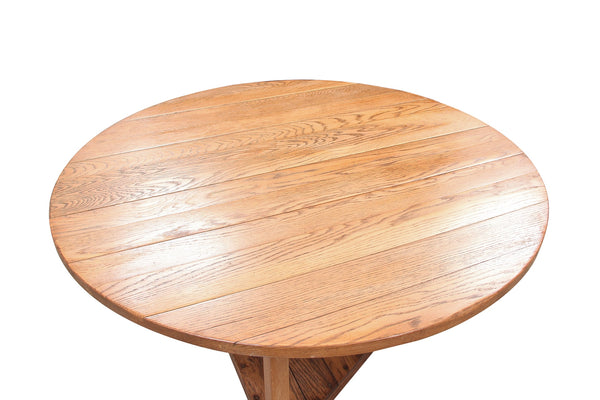 Contemporary Henredon Oak Bistro Table