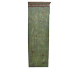 Antique Shabby Chic Distressed Green Tower Chest