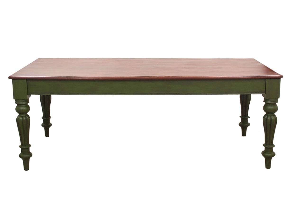 1970's Green Farm Table