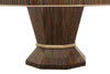 Tiger Striped Mahogany Round Dining Table