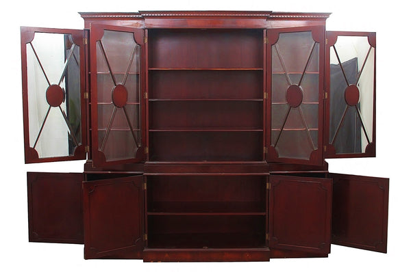 Early 20th Century English Style Solid Mahogany Display Cabinet