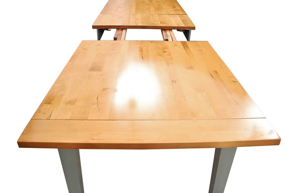 Mid Century Style Solid Pine Dining Table