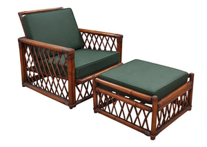 Ficks Reed Bamboo Lounge Chair and Ottoman