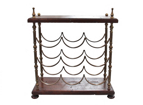 Rustic French Style Table Top Wine Rack
