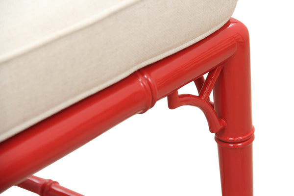 Woodbridge Furniture Faux Bamboo Coral Side Chair