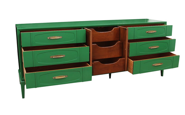 Mid Century Kelly Green Dresser by Thomasville