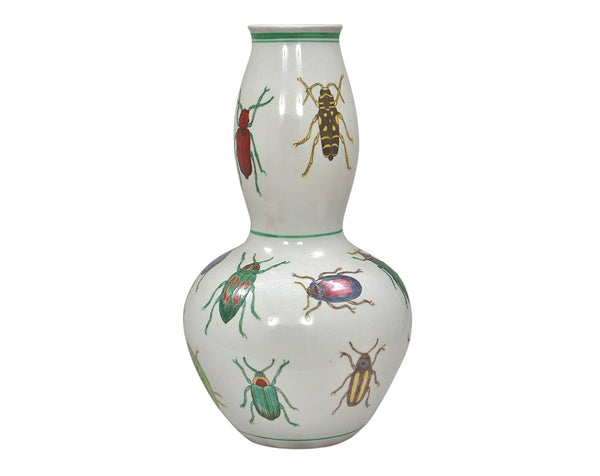 Porcelain Double Guard Beetle Vase