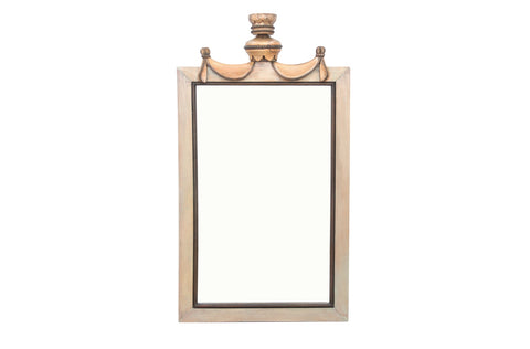 Solid Wood Frame Crowned Mirror