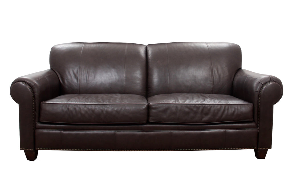Modern Broyhill Contemporary Leather Sofa