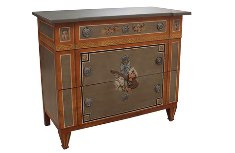 Drexel Heritage Italian Style Hand Painted Chest of Drawers