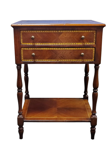 Alfonso Marina Early 20th Century Style Inlaid Side Table