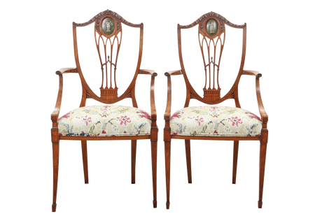Antique Adams Chairs - A Pair