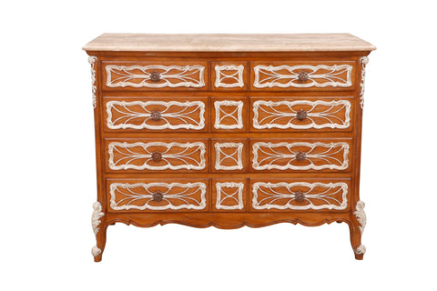 Carved French Dresser With German Marble Top