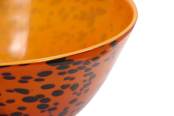 Spotted Leopard Hand Blown Glass Bowl