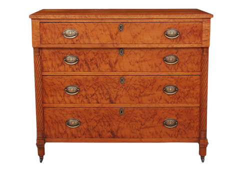 Early 1800's Solid Birdseye Maple Chest of Drawers