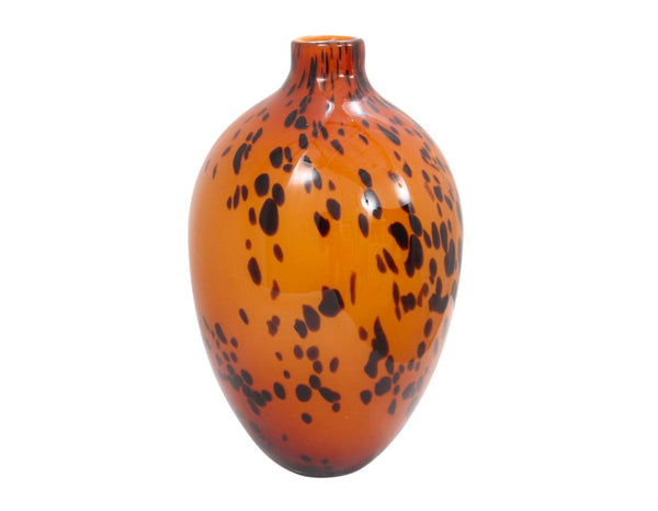 Italian Spotted Leopard Hand Blown Glass Vase back