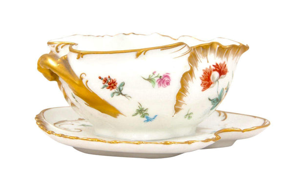 Late 19th Century Haviland Limoge Gravy Boat