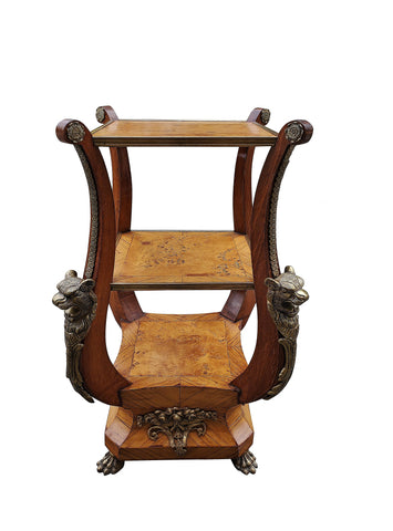 Late 19th Century Marquetry and Ormolu Side Table/Plant Stand