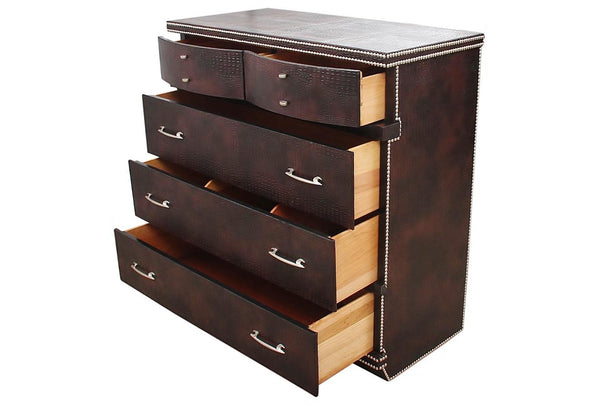 Mid Century Faux Crocodile Chest of Drawers by United Furniture Company