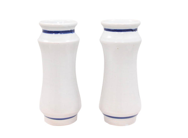 Talevera Opium Apothecary Jars - a Pair