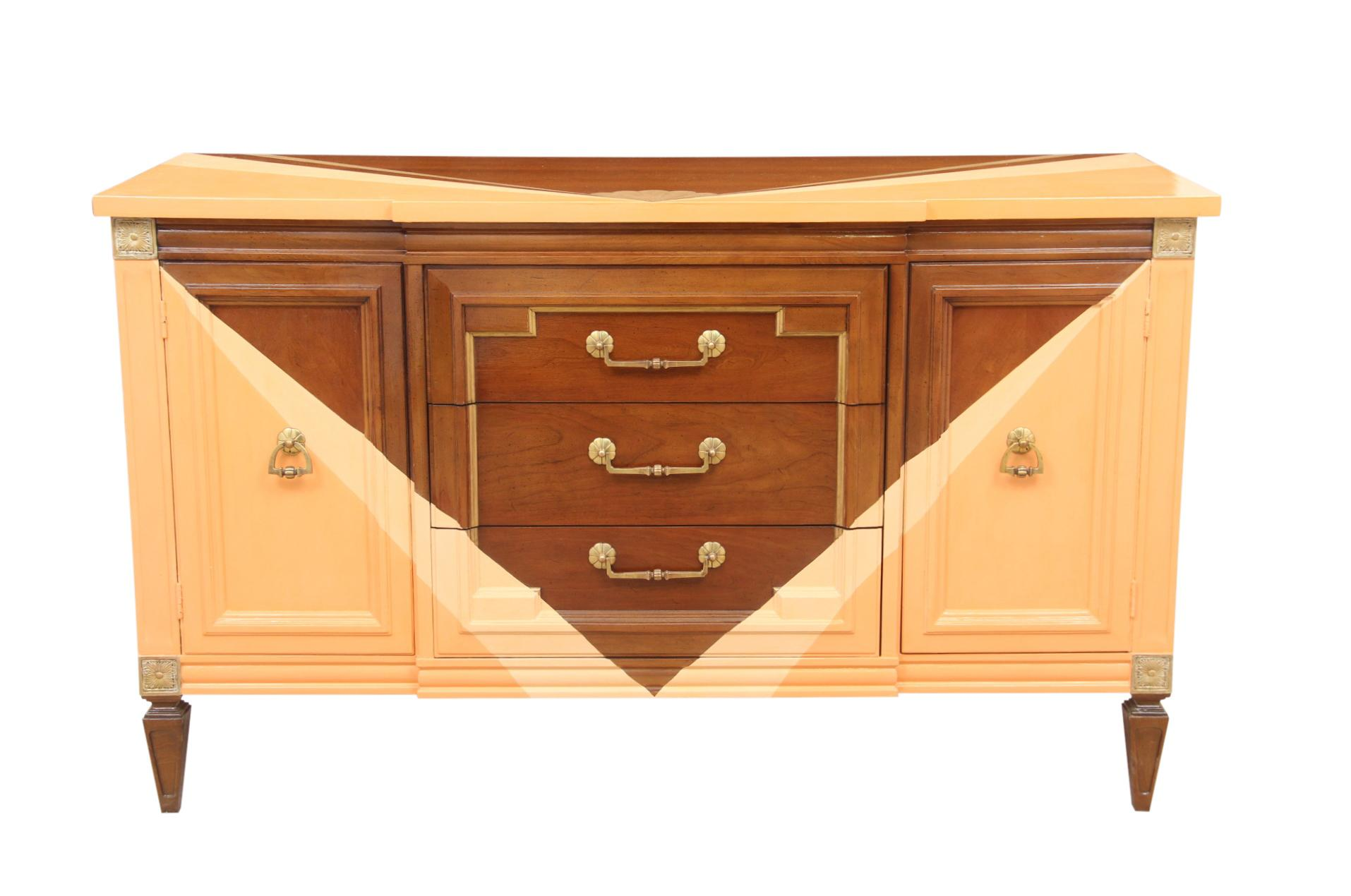 Thomasville Hand Painted Art Deco Style Credenza