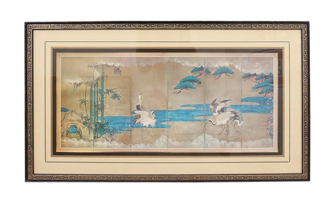 Vintage Asian Style Framed Painting
