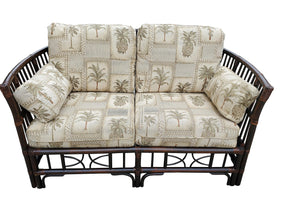 Vintage Tropical Style Bamboo Loveseat