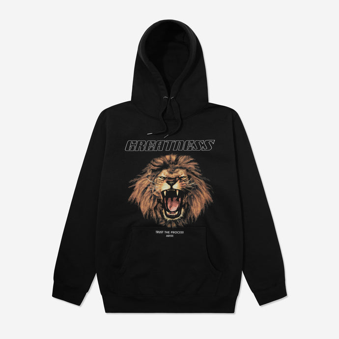 ARISE GREATNESS HOODIE - BLACK - ARISE