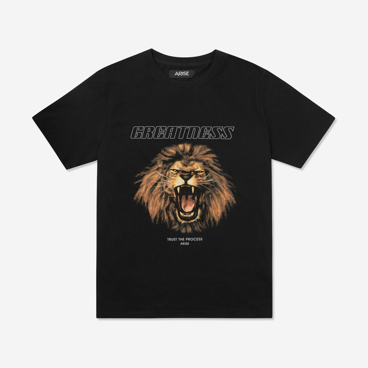ARISE GREATNESS T-SHIRT - BLACK - ARISE