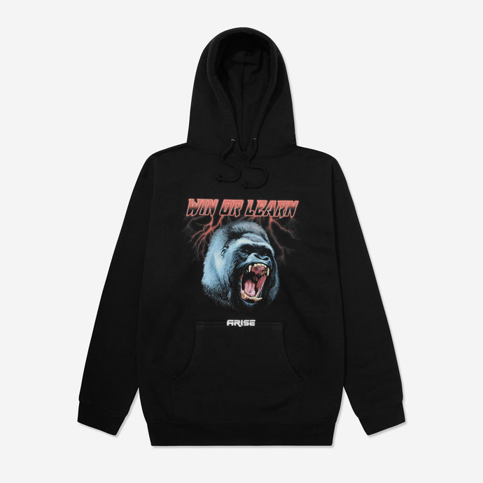 WIN OR LEARN HOODIE - BLACK - ARISE