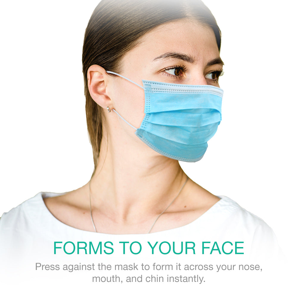 3-Ply Disposable Non-Medical Face Mask with Ear Loop [50-Pack]