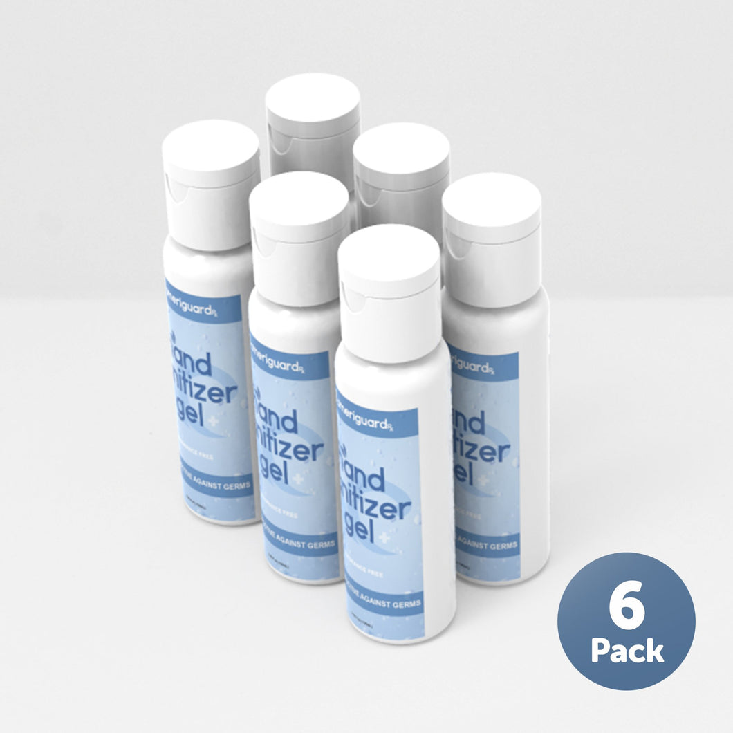 Unscented Hand Sanitizer Gel 100ml [6 Pack]