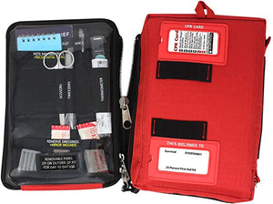 Survival First Aid Kit - Red or black