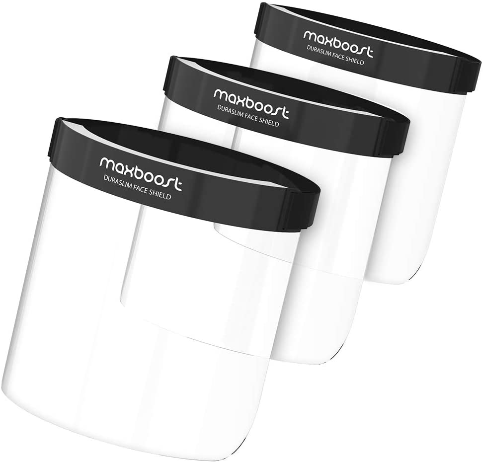 Maxboost Protective Face Shield - 3 Pack, DuraSlim Series