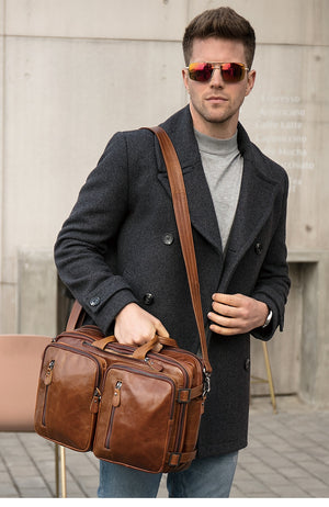 Men's Smart Official  Genuine Leather Briefcase