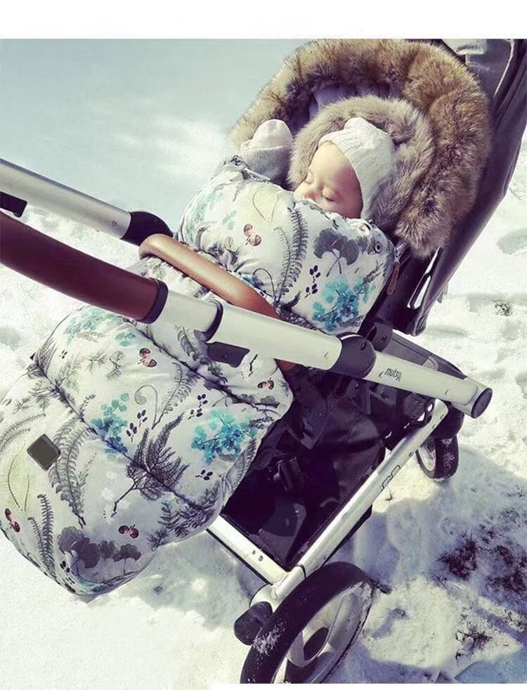 Baby Stroller Sleeping Bag Winter Warm Sleep Sack Windproof For Infant Wheelchair Envelopes